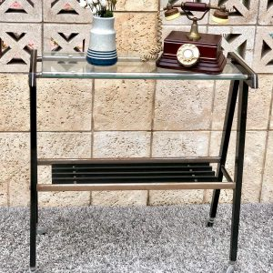 שולחן טלוויזיה וינטאג' זכוכית  a04