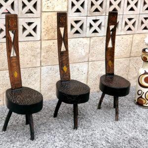 כיסא עץ עבודת יד D07