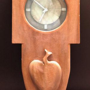 V15 שעון עץ עבודת-יד