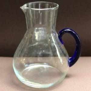 K08 קנקן זכוכית ידית כחולה