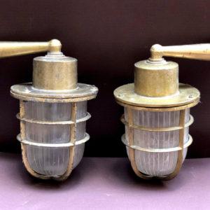 H13 זוג מנורות ברונזה