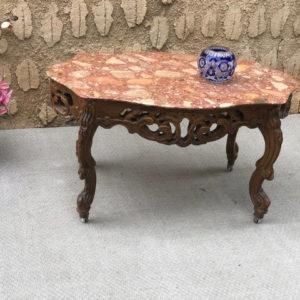 A19 שולחן עץ עם שיש