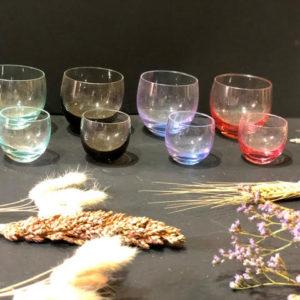 K48 כוסות קריסטל צבעונית