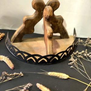 מדף עץ פרזול