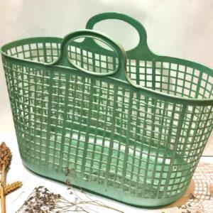 J145 סל קניות וינטאג' ירוק