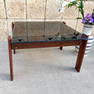 A45 שולחן עץ טיק עם זכוכית