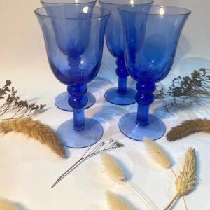 K66 כוסות זכוכית כחולה