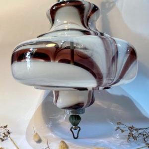 H66 מנורה זכוכית סגולה