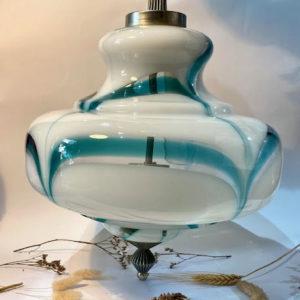"""H72 מנורה זכוכית """"טורקיז"""""""