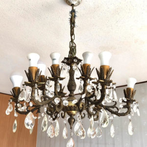 H51 מנורה ברונזה מפוארת במיוחד